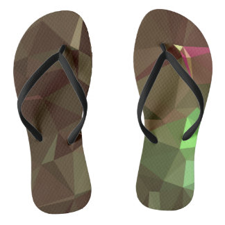 Elegant & Clean Geometric Designs - Earth Angel Flip Flops
