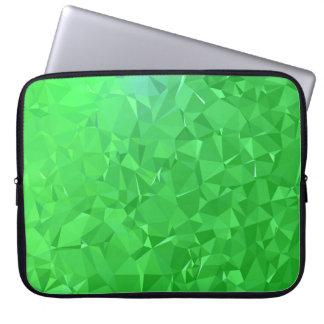 Elegant & Clean Geometric Designs - Emerald Ocean Laptop Sleeve