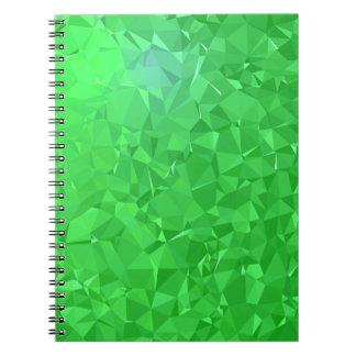 Elegant & Clean Geometric Designs - Emerald Ocean Spiral Notebook
