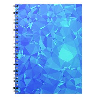 Elegant & Clean Geometric Designs - Glacier Point Spiral Notebook