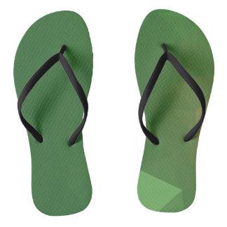 Elegant & Clean Geometric Designs - Grass Angel Flip Flops