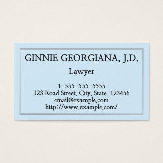 Elegant & Clean Lawyer Business Card