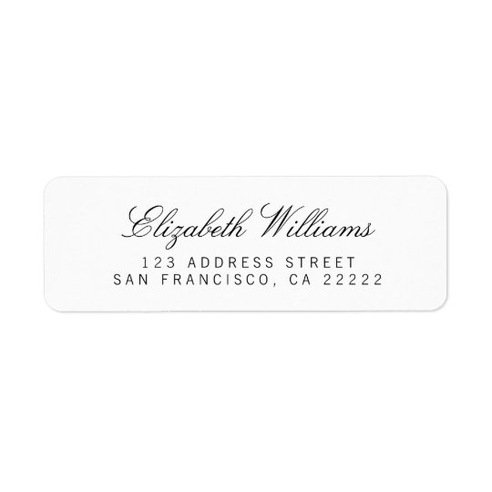Elegant Clean White Simple Return Address Labels