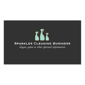 Elegant Cleaning Service Business Cards