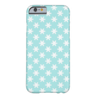 elegant clear Christmas snowflakes pattern blue Barely There iPhone 6 Case