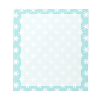 elegant clear Christmas snowflakes pattern blue Notepad