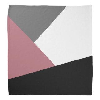 elegant clear dusty pink, black, grey geometrics bandana