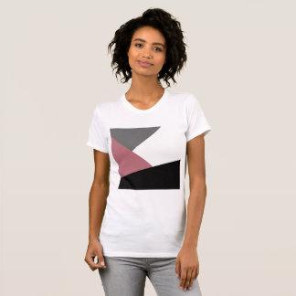 elegant clear dusty pink, black, grey geometrics T-Shirt