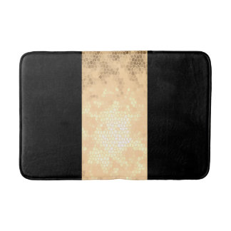 elegant clear faux gold and black stripes bath mat