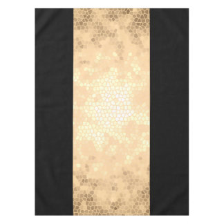 elegant clear faux gold and black stripes tablecloth