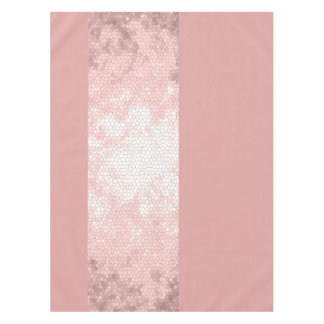 elegant clear faux rose gold pink stripes tablecloth