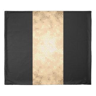 elegant clear gold black stripes duvet cover