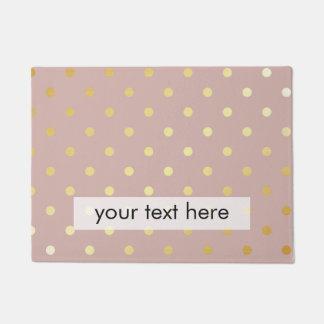 elegant, clear gold foil polka dots pattern doormat