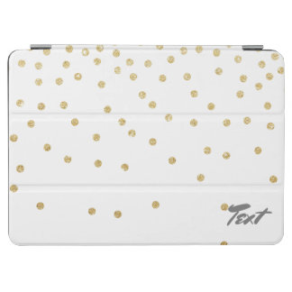 elegant clear gold glitter confetti dots iPad air cover