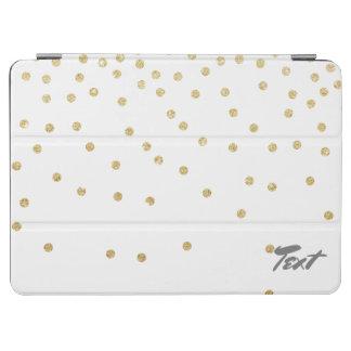 elegant clear gold glitter confetti dots pattern iPad air cover