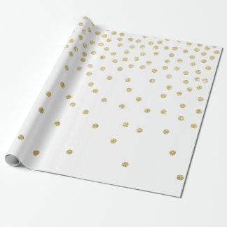 elegant clear gold glitter confetti polka dots