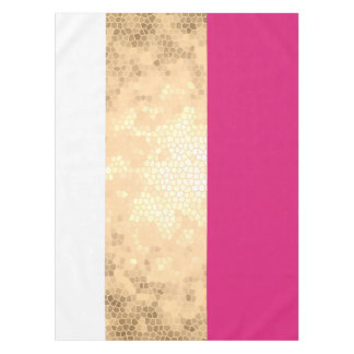 elegant clear gold pink white stripes tablecloth
