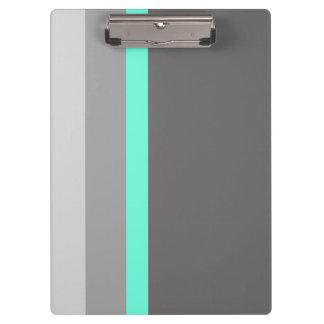 elegant clear mint grey stripes clipboard