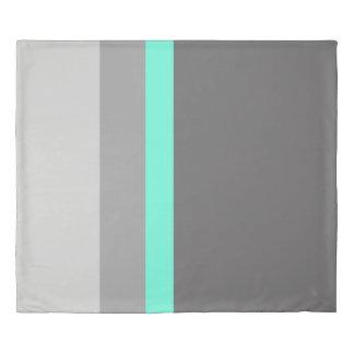 elegant clear mint grey stripes duvet cover