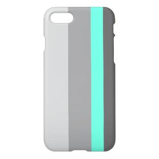 elegant clear mint grey stripes iPhone 8/7 case