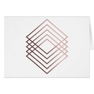 elegant clear rose gold foil geometric squares card
