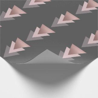 elegant clear rose gold foil geometric triangles