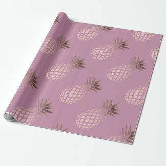 elegant clear rose gold foil tropical pineapple
