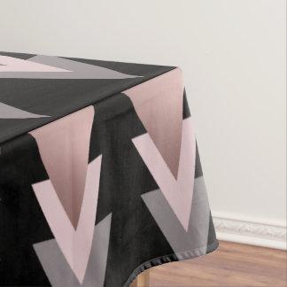 elegant clear rose gold geometric triangles tablecloth
