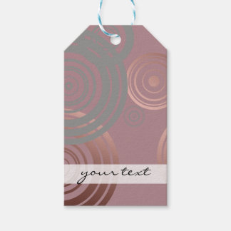 elegant clear rose gold grey geometric circles gift tags