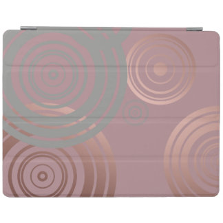 elegant clear rose gold grey geometric circles iPad cover