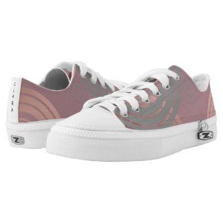 elegant clear rose gold grey geometric circles Low-Top sneakers