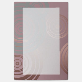 elegant clear rose gold grey geometric circles post-it® notes
