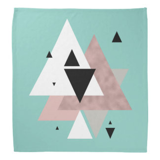 elegant clear rose gold mint geometric triangles bandana