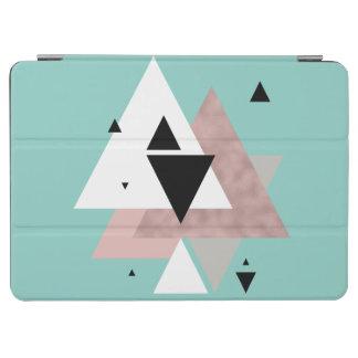 elegant clear rose gold mint geometric triangles iPad air cover