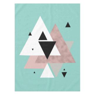 elegant clear rose gold mint geometric triangles tablecloth