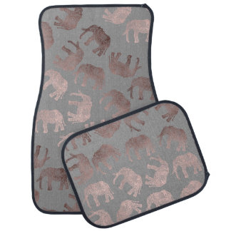 elegant clear rose gold tribal elephant pattern car mat