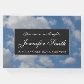 Elegant, Cloudy Blue Sky Sympathy Guestbook