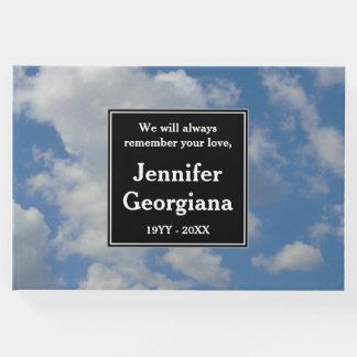 Elegant Cloudy Sky Memorial Guestbook