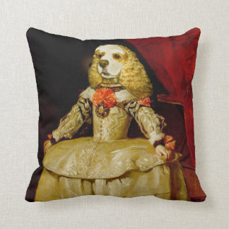 Elegant Cocker Spaniel Throw Pillow