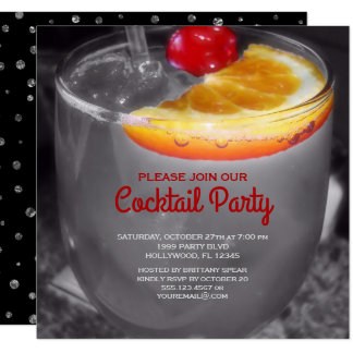 Elegant Cocktail Party Card