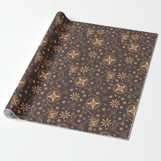 Elegant coffee floral whimsical pattern