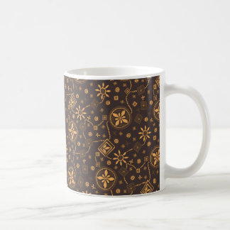 Elegant coffee floral whimsical pattern coffee mug