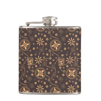 Elegant coffee floral whimsical pattern flasks