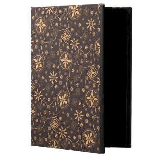Elegant coffee floral whimsical pattern iPad air covers