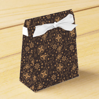Elegant coffee floral whimsical pattern party favor box