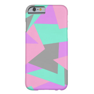 elegant color block colorful geometric pattern barely there iPhone 6 case