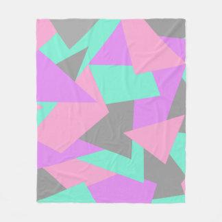 elegant color block colorful geometric pattern fleece blanket