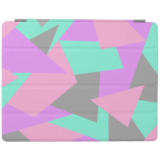 elegant color block colorful geometric pattern iPad cover