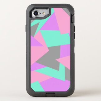 elegant color block colorful geometric pattern OtterBox defender iPhone 8/7 case