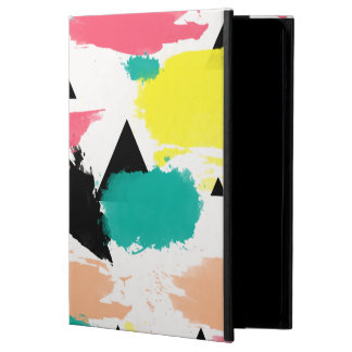 Elegant colorful abstract geometric pattern iPad air case